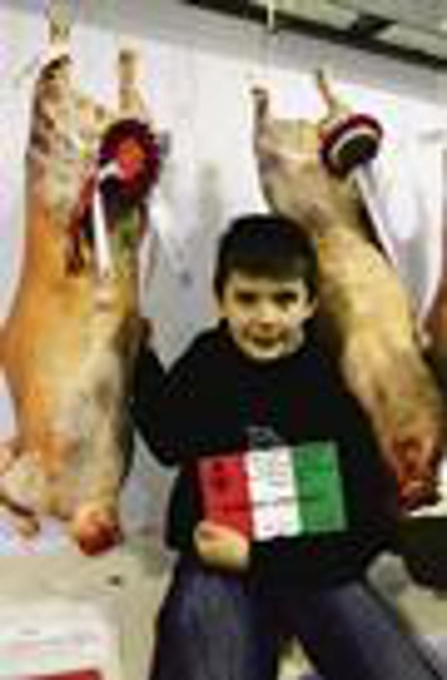 Champion carcasse from Rattray's beltex breeding