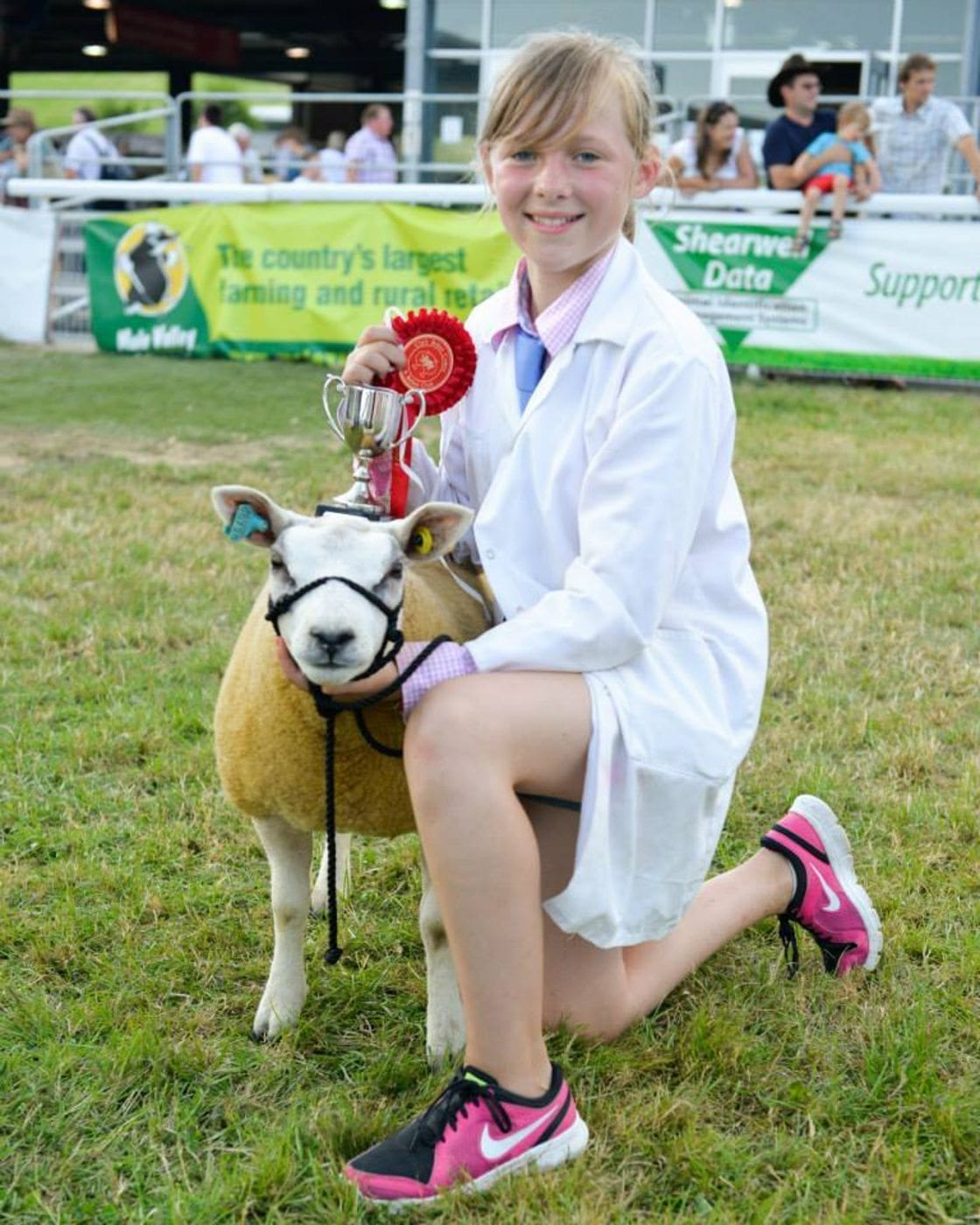 Elin wins Royal Welsh Beltex Senior Young Handler Award