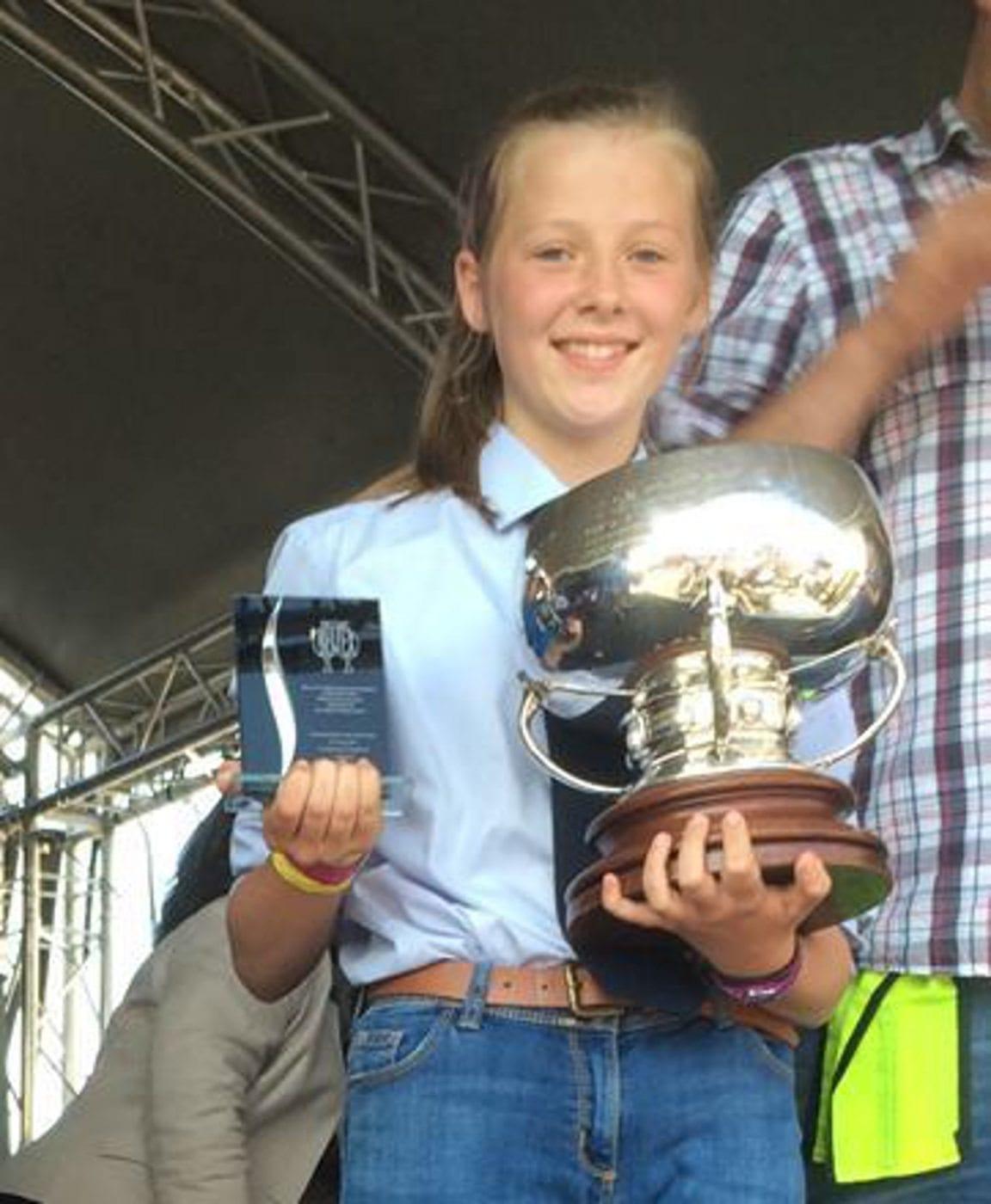 Wales YFC Beltex Stockjudging winner