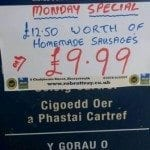 Special offer sausages